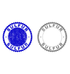 Grunge sulfur scratched stamps vector