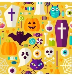 Halloween Party Seamless Pattern vector