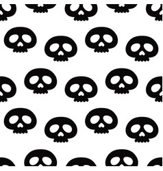 halloween seamless pattern with skull vector image