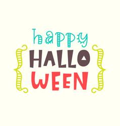 happy halloween card typography poster design vector image