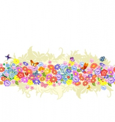 herbaceous border seamless vector image