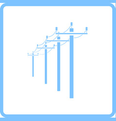 High voltage line icon vector