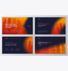 Landing page template for business construction vector