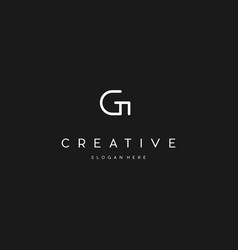 Letter g line creative business logo design vector