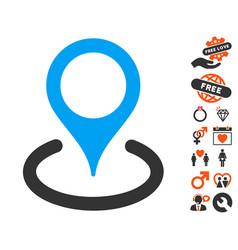 location icon with valentine bonus vector image