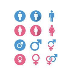 male female icon graphic design template vector image