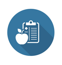 Medical diet flat icon vector