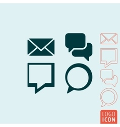 Message icon isolated vector image