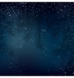 Night christmas background with whirling snow vector