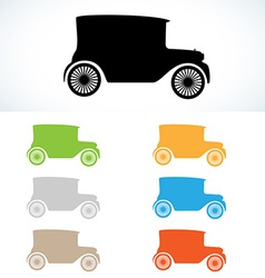 Old car silhouette vector