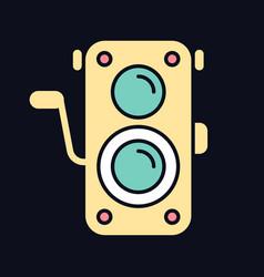 old photo camera rgb color icon for dark theme vector image