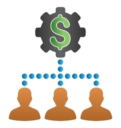 Payout Clients Setup Gradient Icon vector