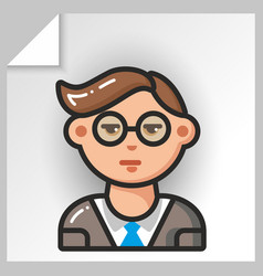 people face icons 19 vector image