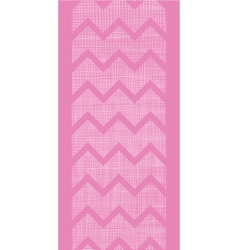 Pink fabric textured chevron stripes vertical vector image