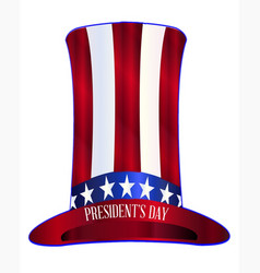 Presidents day uncle sams tall hat vector