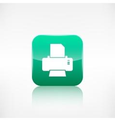 Printer web icon Application button vector