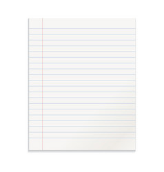 realistic template notepad with spiral blank vector image