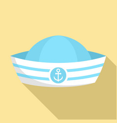 sailor hat icon flat style vector image