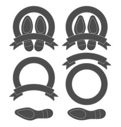 set with shoe soles vector image