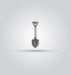 shovel isolated icon vector image