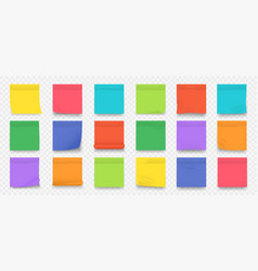 sticky notes square colored blank notepad pages vector image