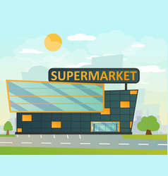 supermarket flat style vector image