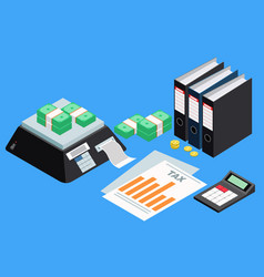 tax accounting concept vector image