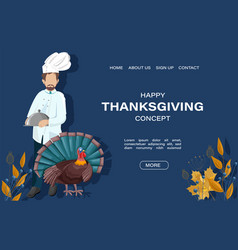 Thanksgiving day site template vector