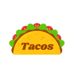 traditional mexican tacos food truck sign logo vector image