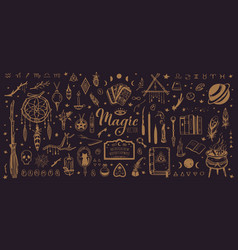 Witchcraft magic background for witches vector