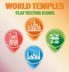 World temples vector