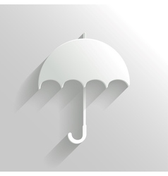 Abstract umbrella on white background vector