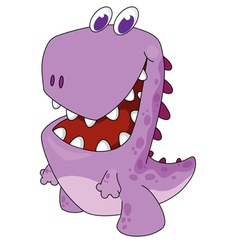nice cartoon dinosaur vector image
