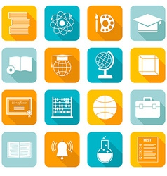 School Subject Icons vector image