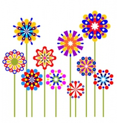 colorful abstract flowers vector image vector image
