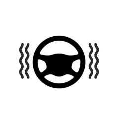 Driving wheel warmer heater icon vector image
