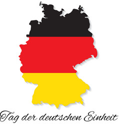 Germany Independence Day German map vector image