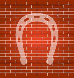 horseshoe sign whitish icon vector image