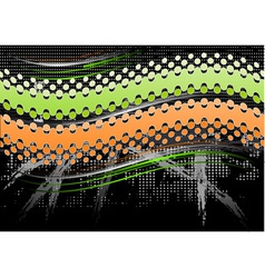 green and orange abstract background vector image vector image
