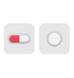 pill in blister pack vector image