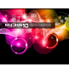 abstract space scenery of light vector image vector image