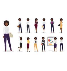 cartoon african american businesswoman vector image vector image