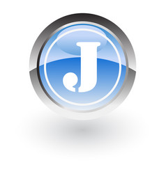 circle letter j icon logo vector image vector image