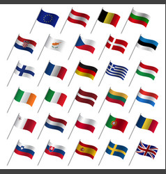 european union country flags 2017 member states vector image