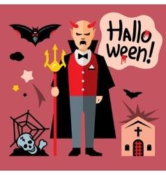 Halloween devil Cartoon vector image vector image