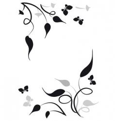 leaves vignette vector image
