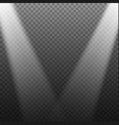 realistic stage light effect transparent bright vector image