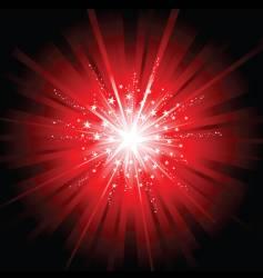 red star burst vector image