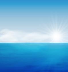 Sea Landscape Sunrise Blue Ocean vector image vector image