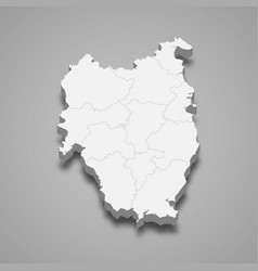 3d isometric map leinster is a province vector